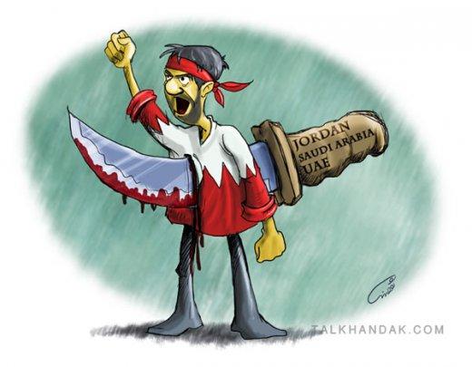 خیانت به بحرین/ الخیانة بالثورة البحرینیة بین الملل, روزانه, سیاسی, کارتون, کاریکاتور ? Comments » کاریکاتور,شعار,فریاد,هاشور,ثورة,البحرین,سربند,چاقو,پشت,بحرین,بحرینی,انقلاب,مردم,قرمز,خیانت,bahrein