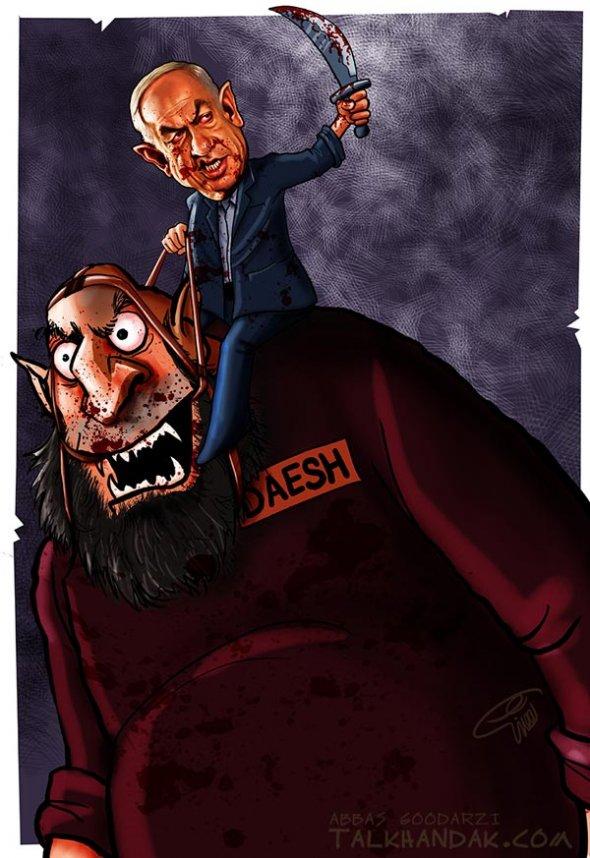 کاریکاتور,داعش,نتانیاهو,عراق,وحشی,اسرائیل,کارتون,سیاسی,سیاست,عباس گودرزی,هنرمند,متعهد,طنز,وحشی,غزه