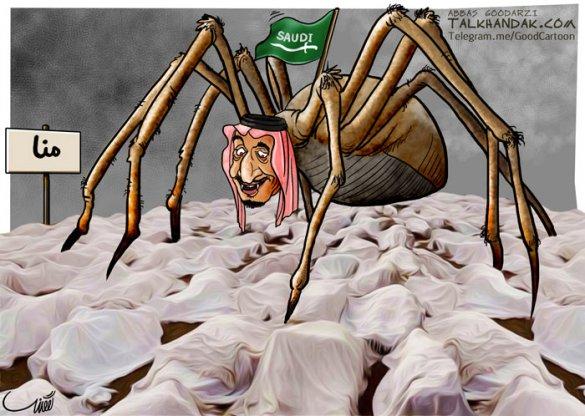 کاریکاتور,حج,عربستان,حج 96,حج تمتع,حاجی,سازمان حج,مدینه,مکه,منا,حجاج,طنز,سیاسی