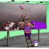 پرچم,آمریکا,ایران,دولت,تدبیر و امید,روحانی,بنفش,رنگ,بزک کردن,تطهیر,سیاسی,سیاست,میدان ولی عصر تهران,عکس,عکاسی,سید احسان باقری,,حوزه هنری,دوباره استقلال,آزادی,عباس,گودرزی,عباس گودرزی,کاریکاتوریست