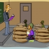 مدرسه,دانش آموز,سنگر,معلم,کاریکاتور,american-school Cartoon