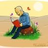 کاریکاتور,عکس کاریکاتور,دانلود کاریکاتور,کتاب,کتابخوانی,عکس پوستر,نمایشگاه کتاب,برکت,بیابان,سرسبز