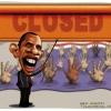 تعطیلی آمریکا,اوباما,کاریکاتور,سیاسی,مردم,بسته,تعطیل,دست,کمک,غرق