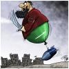 کاریکاتور,داعش,عربستان,اسرائیل,بمب,سوریه,عراق,بادکنک,سیاسی,سیاست,هنر,انقلاب