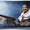 کاریکاتور,حجاریان,مجلس,توپ,ویلچر,تانک,به توپ بستن,سیاسی,سیاست,اصلاح طلب,چپی,چپگرا,افراطی,بی منطق,تصویر
