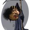 قذافی,مُرد,مرگ,معمر,لیبی,کاریکاتور,گودرزی,عباس,عزراییل,اجل,تلخندک,داس,کشتن,قتل