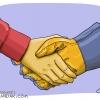 کاریکاتور حمایت از نیروی کار ایرانی