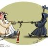 تلخندک,گودرزی,عباس,عزراییل,جان,سخت,خسیس,طناب,طناب کشی,ترس,داس,کاریکاتور,cartoon,arab,king