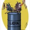 libya,نفت,لیبی,لاشخور,غرب,آمریکا,انگلیس,کاریکاتور,گودرزی,عباس,هنر,کرکس,بشکه,دزد,USA,روباه,النسور غربي,oil