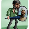 علی مطهری,کاریکاتور,شهید مطهری,سیاسی,انتخابات,نامه به رهبری,چماق,motahari