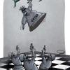 Coup in Qatar cartoon , محاولة انقلاب في قطر , کاریکاتور کودتا در قطر