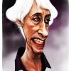 کاریکاتور,وندی شرمن,زن,آمریکا,سیاسی,سیاست,دروغگو,موی سفید,ایران,ایرانی,طنز,چهره,عجوزه,sherman