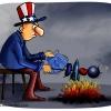 آمریکا,کباب,آتش,سوریه,عموسام,بمب,گوجه,کاریکاتور,سیاسی,طنز,سیاست,اوباما,نشسته,;hvd;hj,v,زغال,syria,war