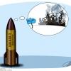 تل آویو,اسرائیل,فلسطین,موشک ایران,حمله نظامی,کاریکاتور,tel aviv