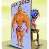 آمریکا,کاریکاتور,قدرت,هیکل,بدنسازی,ابهت,سیاسی,سیاست,گودرزی,عباس,2013,USA,لخت,زپرتی,ضعیف