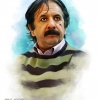 مجید مجیدی,نقاشی چهره,نقاشی,کارگردان,فیلم,محمد رسول الله,چهره سال,هنر انقلاب,عباس گودرزی