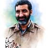 حسین یکتا,حاج حسین,خادم,شهدا,راهیان نور,کاروان,روایتگر,راوی,نقاشی,طراحی چهره,جانباز,دفاع مقدس,جنگ,مناطق جنگی,یادگاری